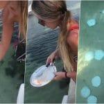 Oglasio se tiktoker koji je snimao svoju devojku dok baca tanjire u more VIDEO