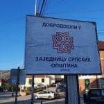 """UKLONJEN PLAKAT """"DOBRODOŠLI U ZAJEDNICU SRPSKIH OPŠTINA"""" U ŠTRPCU Policija lažne države Kosovo u toku noći sklonila sve transparente (VIDEO)"""